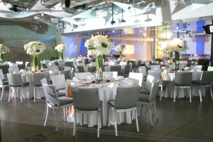 7 Degrees provides all of the table, chairs, silverware, glassware etc. they make it easy and convenient to rent their space.
