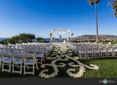 The Pacific Promenade setup for the ceremony