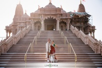 """Brinda wanted her wedding to have an """"India-feel"""" to it. What better than to get married at the BAPS Swaminarayan Mandir."""