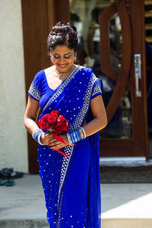 Mamta had rose bouquets made for each bridesmaid to hold as she entered the ceremony.