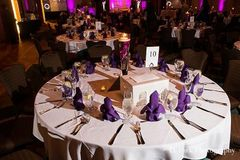 The Hyatt arranges the whole table setting as part of the reception package.