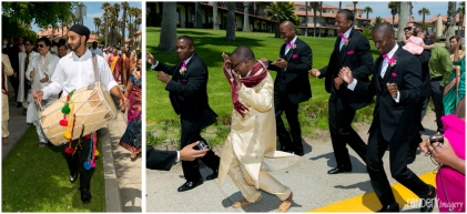 The baraat went from the front entrance of the hotel all the way to the back to the Presidential Lawn.!