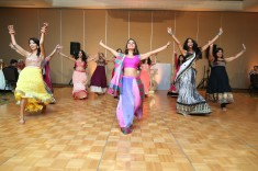 To mix things up a bit, do what this couple did - a wood dance floor at the garba and white for the reception. The Fairmont can arrange both floors.