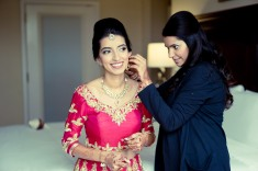 This bride custom designed all of her wedding weekend clothes and had them made in India.
