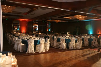 Here you can see the dance floor and its proximity to the tables and chairs.