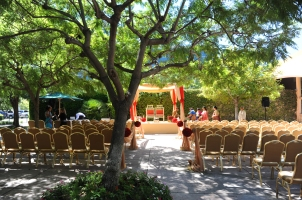 Beautiful ceremony site - notice the chairs - those are their standard chairs