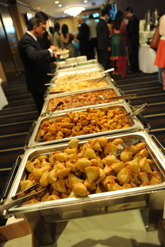 Outside catering is no worries. They'll work with your caterer to provide cvhafing dishes and all the necessary equipment