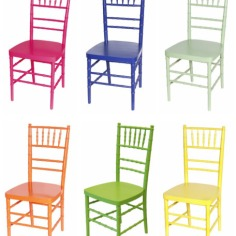 The wood chairs are available in the most number of colors.
