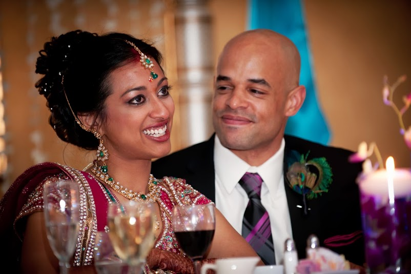 For wedding bridal entertainment desi wedding indian bridal hair - Coast To Coast Wedding Leena And Justin Shaadishop