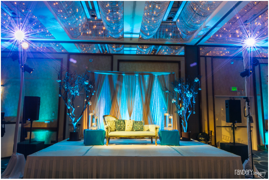 04-California-Long-Beach-Hyatt-Orange-County-Indian-Wedding-Reception-Photographer-ballroom-decor-florals-stage-backdrop