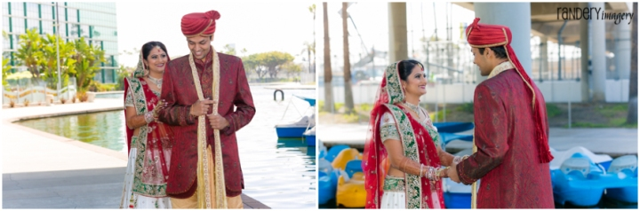 17-California-Long-Beach-Hyatt-Orange-County-Indian-Hindu-Gujarati-Wedding-Photography-First-Look-Romantics