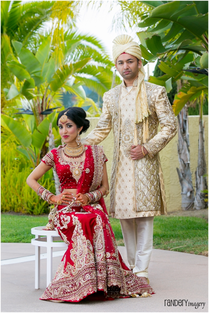 Gorgeous golden gown sonia and ravi hilton irvine for Bride groom dresses for indian wedding