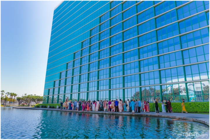 29-California-Long-Beach-Hyatt-Orange-County-Indian-Hindu-Gujarati-Wedding-Photography-mobile-Baraat-dj-Dhol