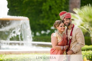 Indian bride and groom during their photoshoot with Lin and Jirsa for their outdoor, summer Hindu wedding.