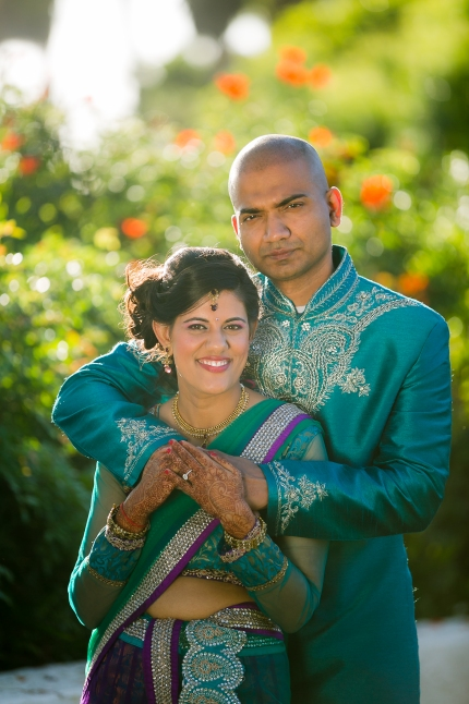 Indian-wedding-Newport-Beach-Marriott--photoshoot-turquoise-lehenga-sherwani