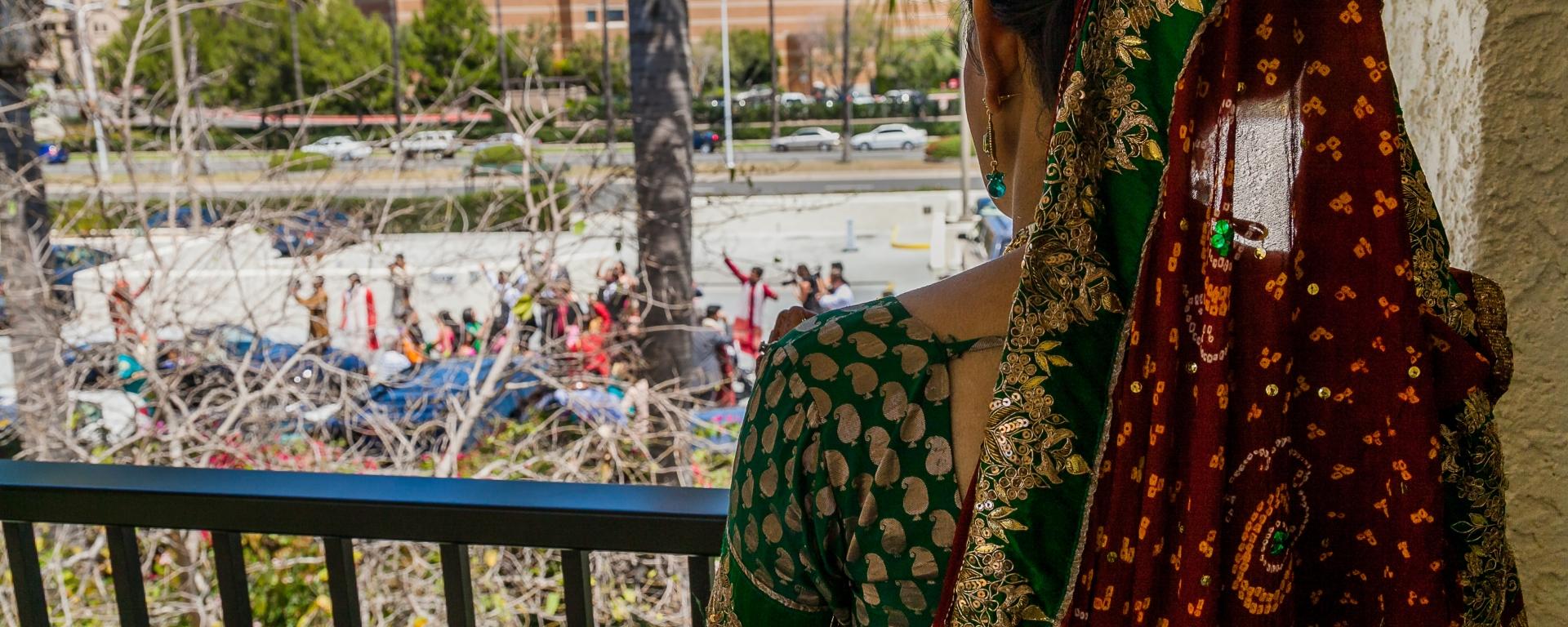 Brides Watch Your Baraat Arrive At The Marriott Newport Beach Hotel