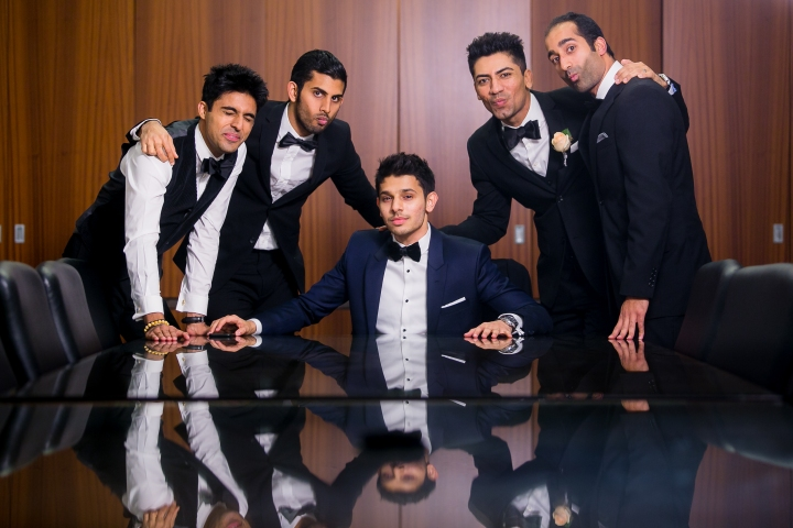 Azhar and groomsmen