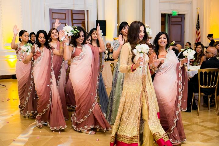 bridesmaids dancing-AH-Richard-Nixon-Library-Wedding-Yorba-Linda-CA