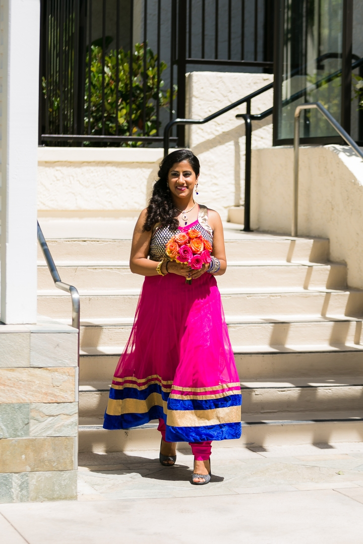 Newport-Beach-Marriott-Indian-wedding-bridesmaid-anarkali-bridal-bouquet