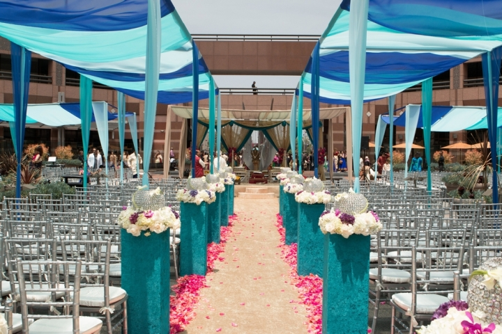 Indian-wedding-mandap-Hindu-ceremony-Ethnic-Essence-Smita-Mohindra-fire-Long-Beach-Hilton