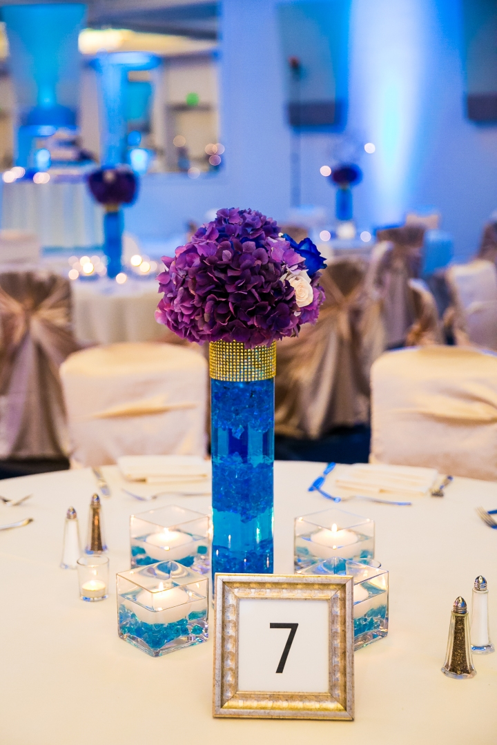 Newport-Beach-Marriott-Indian-Wedding-Photography-centerpiece-table-number-floating-candles-votives-purple-blue