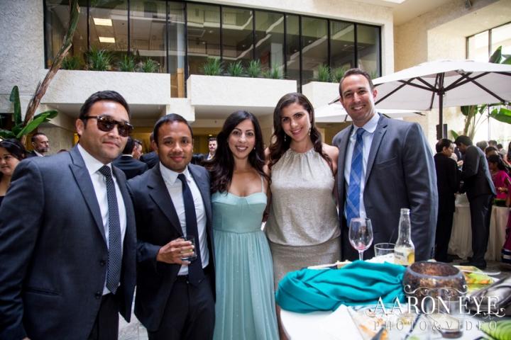 Reha-Vijay-Newport-Beach-Marriott-South-Asian-wedding-Indian_wedding-Hindu-Jain-North_Indian-Gujarati-lehenga-sera-fountain-The-Atrium-cocktail-hour
