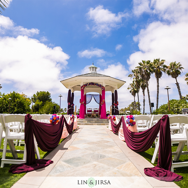 Newport-Beach-Marriott-Rose-Garden-ceremony-mandap-fire-Jain-Hindu