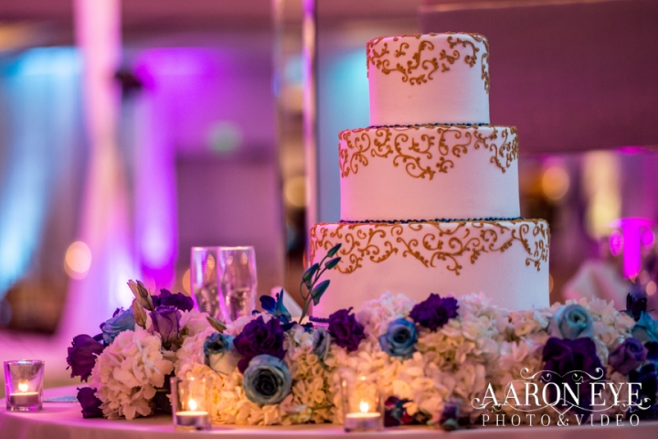 Reha-Vijay-Newport-Beach-Marriott-South-Asian-wedding-Indian_wedding-Hindu-Jain-North_Indian-ballroom-Aaron-Eye-Photography-cake