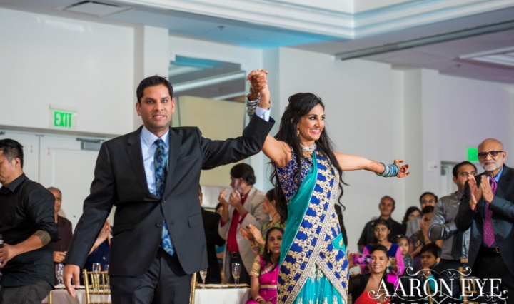 Reha-Vijay-Newport-Beach-Marriott-South-Asian-wedding-Indian_wedding-Hindu-Jain-North_Indian-grand-entrance-ballroom-Arron-Eye-Photography-DJ-Sukh