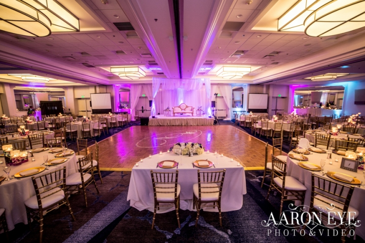Reha-Vijay-Newport-Beach-Marriott-South-Asian-wedding-Indian_wedding-Hindu-Jain-North_Indian-head-table-ballroom-Aaron-Eye-Photography-DJ-Sukh