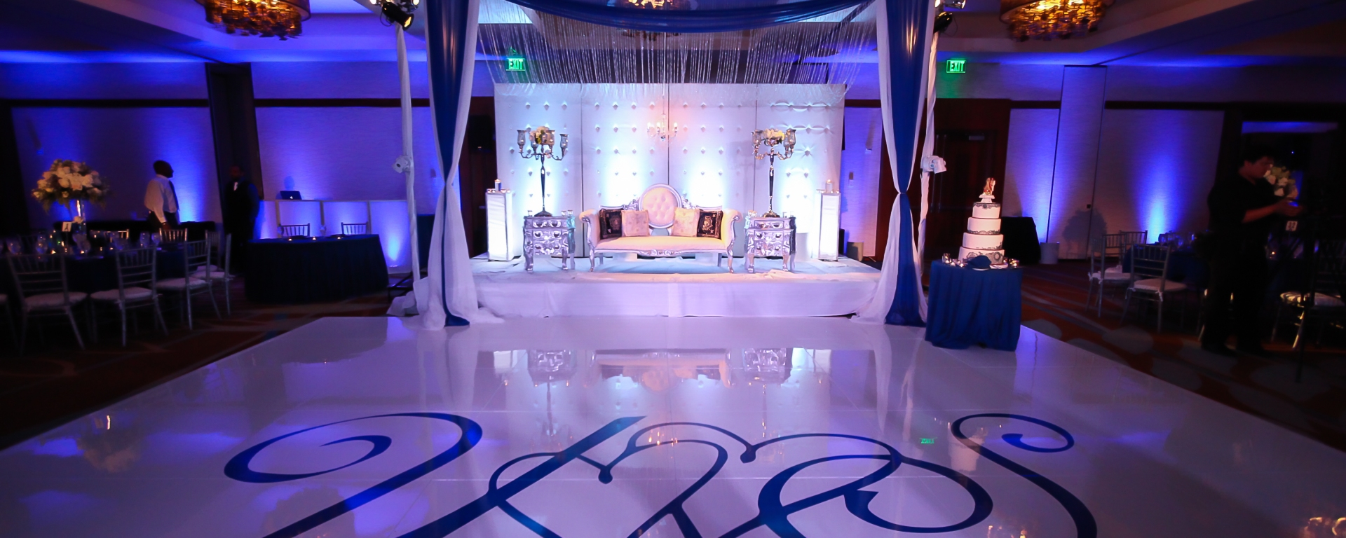 Navy Blue and Silver Decor – Indian Wedding Venues: Southern ...