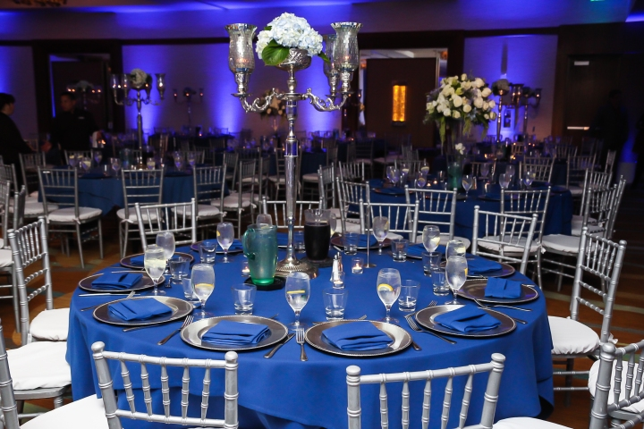 Navy Blue And Silver Decor Indian Wedding Venues In Southern California