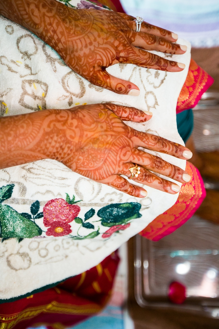 Anita, Indian bride mehndi
