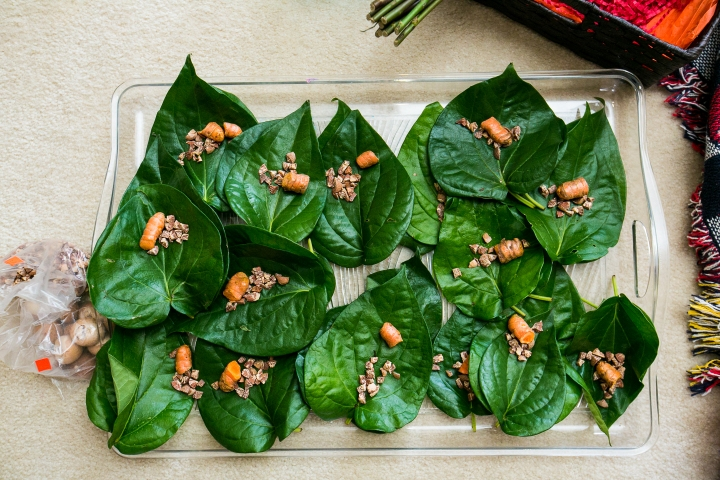 betel leaves for Indian, Hindu wedding ceremony