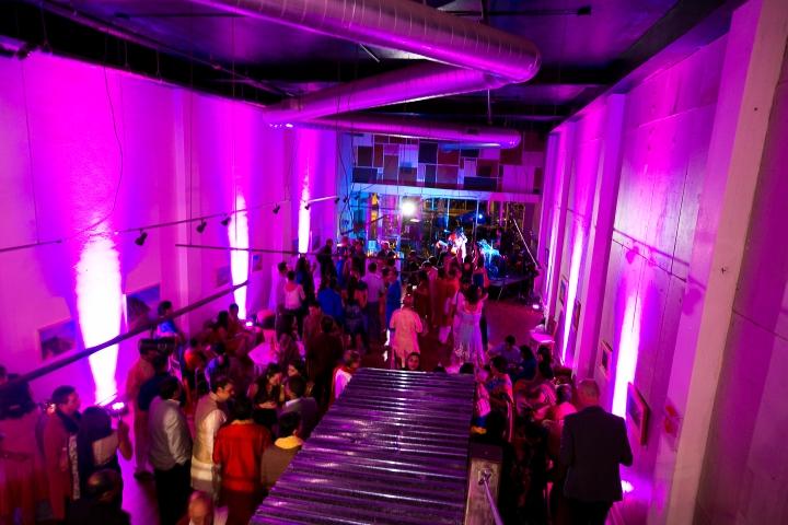 sangeet setup with lighting for Hindu, Indian wedding