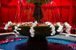 Bridal and Event Lounge brought in all of the decor for the Indian, Hindu wedding ceremony for the mandap, chairs, florals