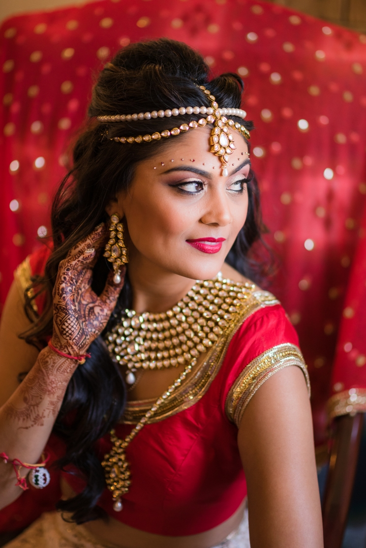 Indian bride ready for her Indian wedding