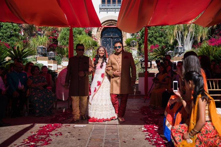 Red Decor Outdoor Wedding Indian Wedding Venues