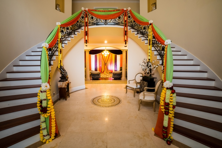Decoration Of Stairs In Indian Wedding House Courtesy