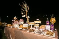 Desserts at Indian wedding reception.