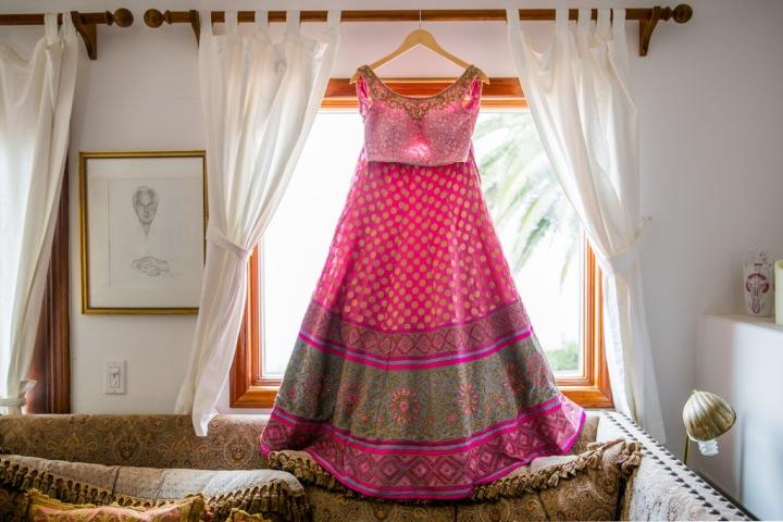 he bride's lehenga for her Indian wedding reception
