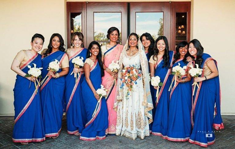Indian-wedding-Avni-Taylor-Paul-Gero-photography-Hindu-ceremony-Gujarati-Dolled-Lulu-tikka-Indian-bride-dulhan-South-Asian-wedding-updo-bindi-chandlo-bridesmaids-saris