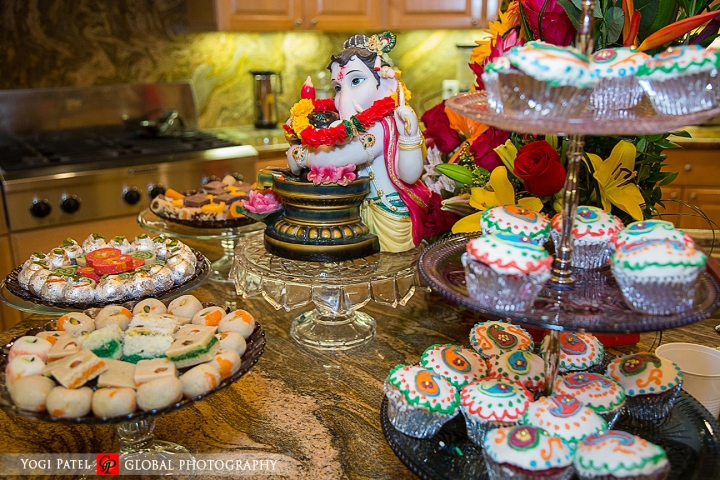 Indian wedding dessert spread at the Hotel Irvine