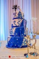 blue Indian wedding cake
