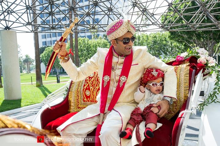Indian wedding at Hotel Irvine Punjabi Jain bride and groom.
