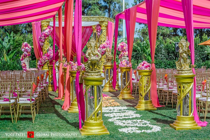 Beautiful Indian wedding ceremony decor