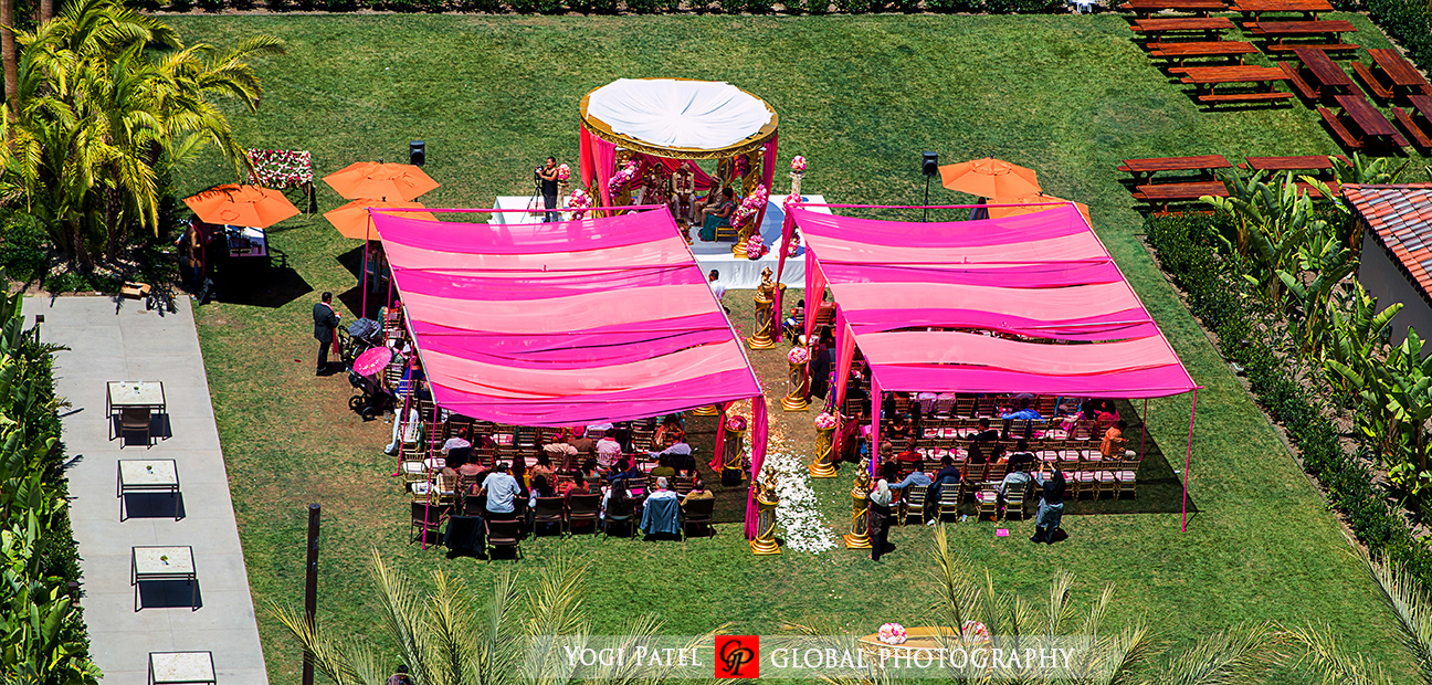 Party bus cinderella coach book invitations and more shveta and indian weding outdoor ceremony with a pink canopy junglespirit Images