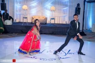 Indian wedding Bollywood dance at wedding reception
