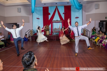 Indian-wedding-sangeet-dupatta-Global-Photography-Kunal-Shveta-Bollywood-dance-sangeet-bhangra-friends