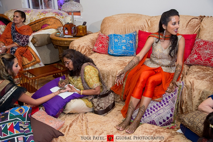 The bride at her mehndi function